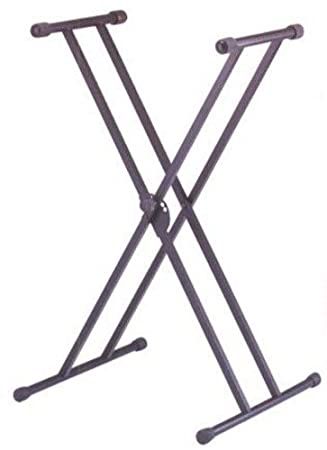Amazon.com: SOPORTE TECLADO - TCM (KSK129) Tipo X Doble (Tijera) Altura 68 cm. a 98 cm. (Apoyo Goma): Musical Instruments