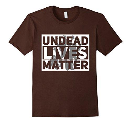 Mens Funny Halloween Costume Ideas 2017 Undead Shirt 2XL Brown (Men Halloween Costumes Ideas 2017)