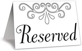 Cartel de reservado - 4Pk: Amazon.es: Hogar