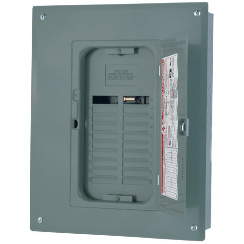 (Square D by Schneider Electric QO124L125PGC Square D Pon Convertible Mains Load Center, 120/240 Vac, 125 A, 1 Phases, 22000 Air Interrupt,)