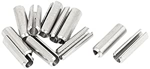 uxcell® M5x18mm 304 Stainless Steel Split Spring Roll Dowel Pins 10Pcs