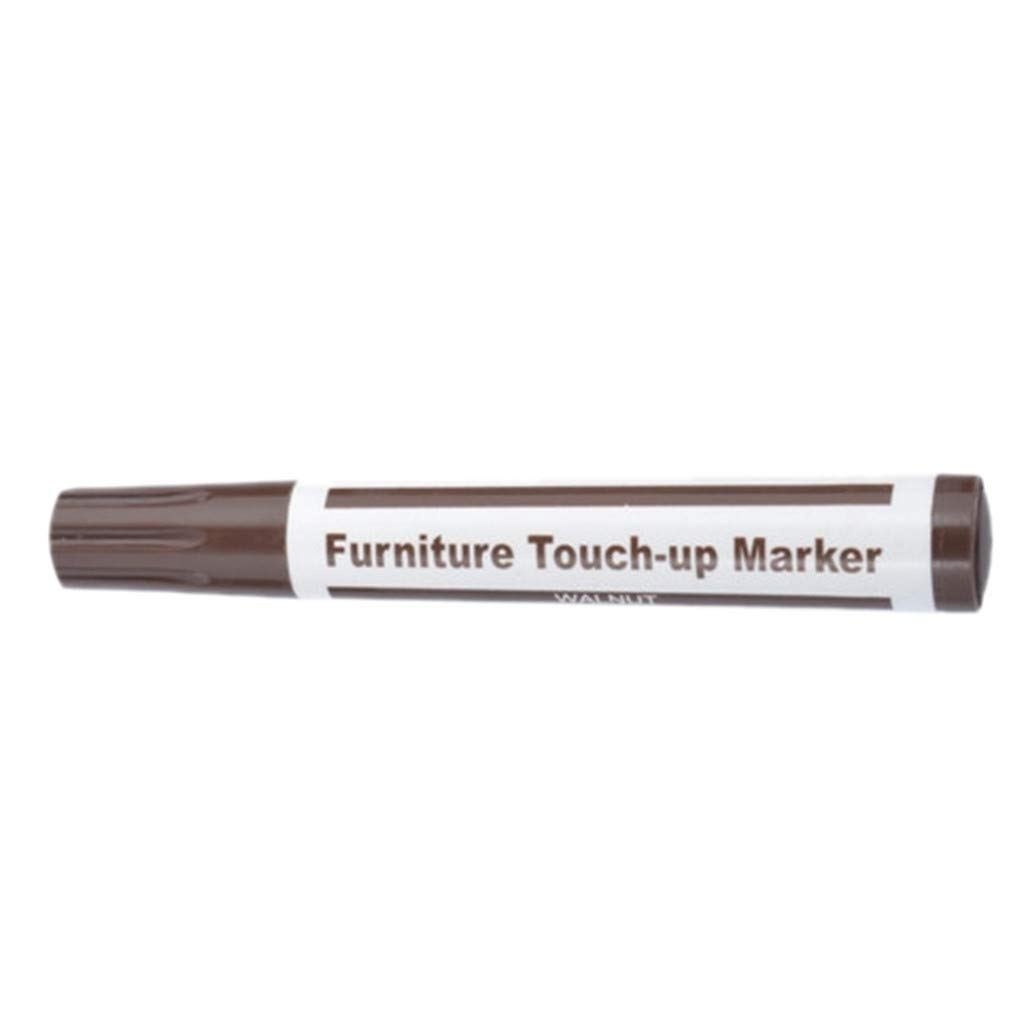Lomsarsh Wood Furniture Repair Pen Marker Pen Wax Scratch Filler Remover Repair Fix 1Pc for Stains, Scratches, Wood Floors, Tables, Desks, Carpenters, Bedposts, Touch Ups, and Cover Ups