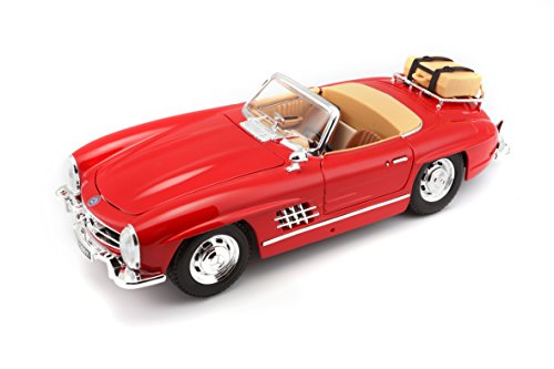 BBurago - Mercedes-Benz 300 SL Touring Convertible (1957, 1/18 scale diecast model car, Red) 12049 diecast toys cars