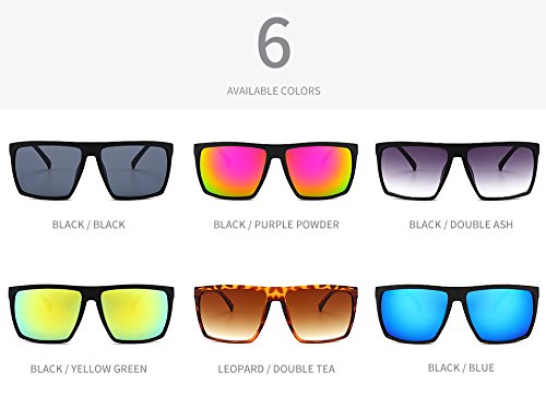 Cr¨¢neo Vintage de Espejo vidrios j¨®venes Pynxn Azul Unisex Gafas Sol Negro Parejas Mujeres Gris 9268 Oculos Hombres Gafas Personal Cuadrado 5dqBBytFc
