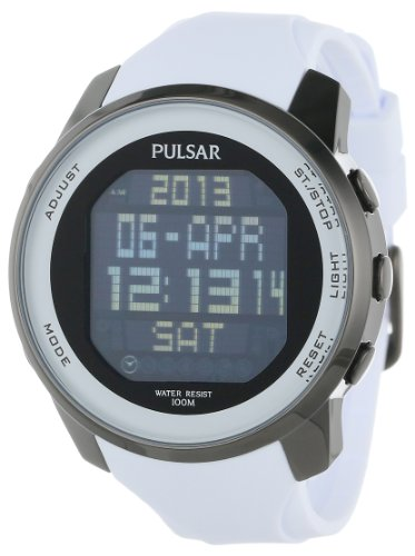 Pulsar Rubber Watch - Pulsar Men's PQ2015 Classic Digital Watch