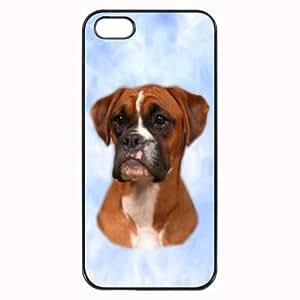 Custom Boxer Red Dog Hard Case Clip on Back Cover for iPhone 5 & 5S Mobile Phone WANGJING JINDA