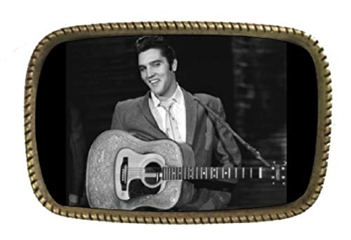 Elvis Presley Brass Belt Buckle Made In USA ()