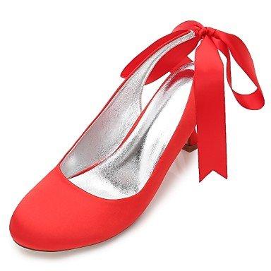 RTRY Las Mujeres'S Wedding Shoes Confort Satin Primavera Verano Boda Vestido De Noche &Amp; Rhinestone Bowknot Champán Heelivory Plana Rubí Azul US8 / EU39 / UK6 / CN39