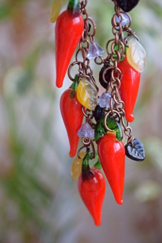Lampwork necklace Chili Pepper (Chili Pepper Beaded Necklaces)