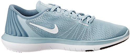 Nike Kvinders Flex Øverste Tr 5 Cross Training Sko Glimmer Blå / Hvid / Smokey Blå / Legion Blå MlcZX7Xj