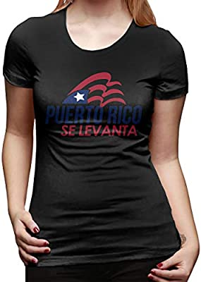 Johnson hop Camiseta de Manga Corta para Mujer Puerto Rico ...