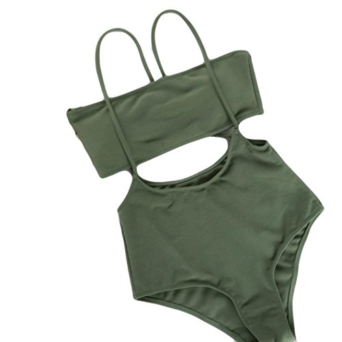 High Waisted Bikini Top Swimsuit Hollow Out Push-up Padded Bra Beach Set Swimwear for Women