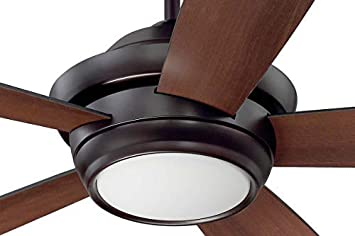 Ceiling Fan Bronze with Dimmable LED Light and Remote by Craftmade TMP52OB5 Tempo, 52 Inch Uplight Fan