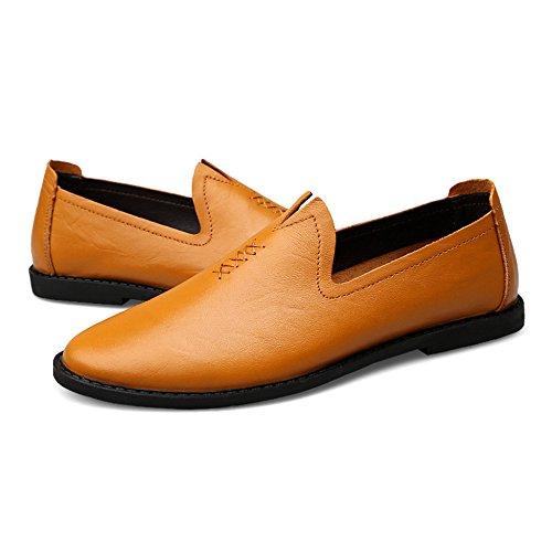 Clásicos Oficiales De Comerciales Cuero Regalos De Para Los De Lightbrown r Zapatos Hombres Hombres Ocasionales Los Zapatos Yr Los qzt8Axw