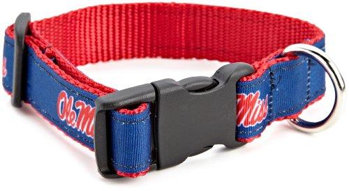 NCAA Ole Miss Rebels Dog Collar, Team Color, Medium