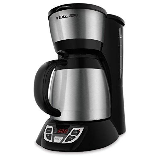 - BLACK + DECKER 8-Cup Programmable Coffeemaker, Stainless Steel, CM1609