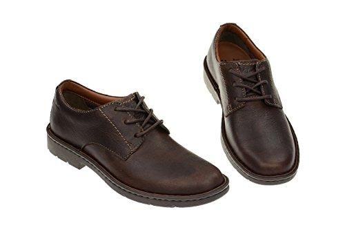 Clarks Stratton Way - zapatos con cordones de cuero hombre marrón - marrón