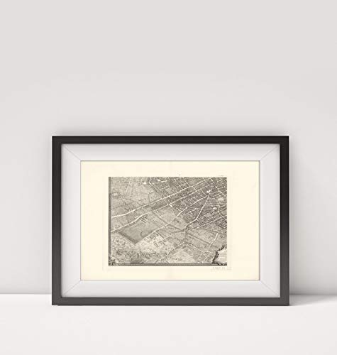 1739 Map of |Pl. XXVII Quater. Paris de 1734 a 1739|Title: Pl. XXVII Quater. Paris de 1734 a 1739.