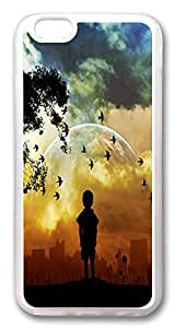ACESR Child World Hipster iPhone 6 Cases, TPU Case for Apple iPhone 6 (4.7inch) Transparent