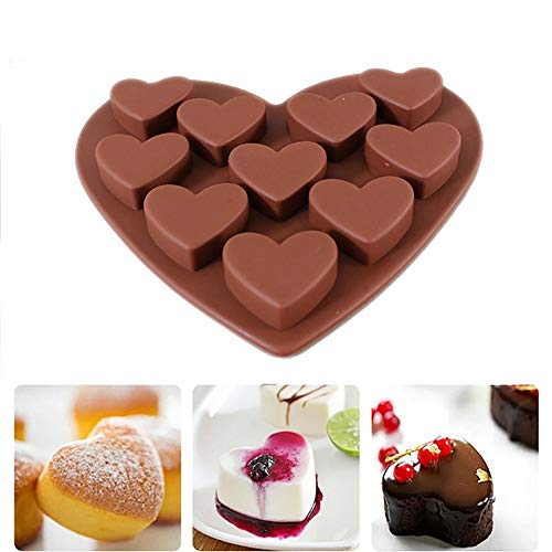 Euone Cake Mold Clearance , Love Heart Shaped Silicone Molds Fondant Cake Chocolate Mold