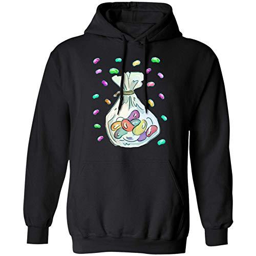 Teescircle Jelly Bean Halloween Costume T Shirt Hoodie (Hoodie;Black;5XL)