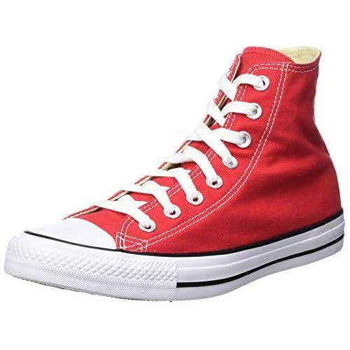 chollos oferta descuentos barato Converse Chuck Taylor All Star Hi Top Zapatillas Unisex Adulto Rojo 45 EU