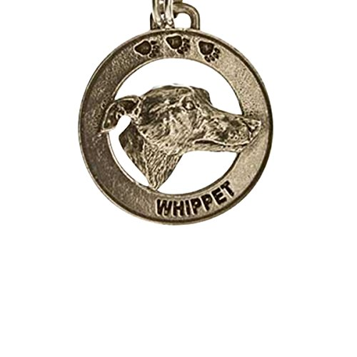 Creative Pewter Designs, Pewter Whippet Key Chain, Antiqued Finish, DK182 by Creative Pewter Designs
