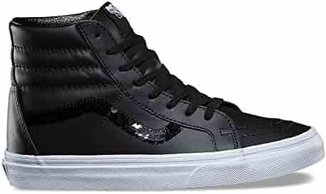 2d265dd35a Vans Sk8-Hi Reissue (Shiny Sequins) Fashion Sneakers Black True White Size