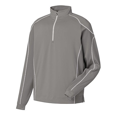 FootJoy Mixed Texture Sport 1/2 Zip Golf Pullover 2016 Steel Grey Medium by FootJoy