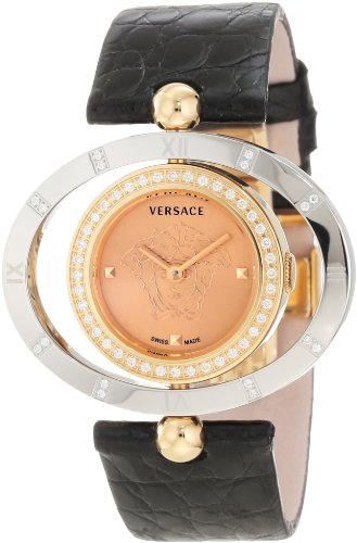 Versace-Womens-91Q89FD997-S009-Eon-Gold-IP-and-Steel-Rotating-Diamond-Bezel-Watch