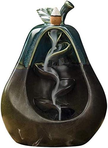 家庭用アロマディフューザー 逆流香香炉の煙は、セラミック気化器の山や川アート&クラフトホームデコレーションを収容滝 (Color : H)