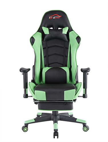 Top Gamer Gaming Chair PC Computer Game Chairs for Video Game (Green-09)