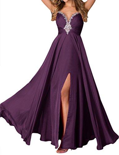 Missdressy - Vestido - trapecio - para mujer Uva