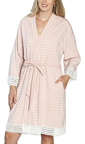 Angel Maternity 3 in 1 Birth Kit: Hospital Gown + Maternity Gown, Nursing Dress and Baby Blanket Labor Kit - Pink - XS/S