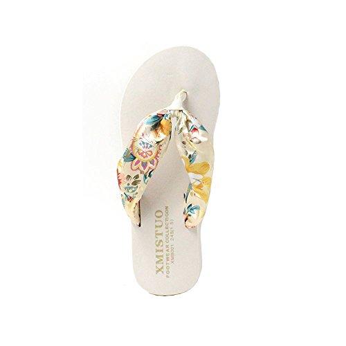 Ladies Casual On A Womens Soft Slip Sine90® Summer Beige Toe Post Flip Flops BqHdwBx