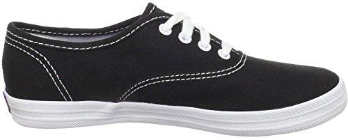 Keds Champion Noir Blanc Toile Plimsolls Femmes Formateurs Chaussures