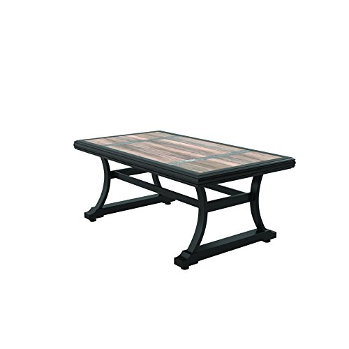 Ashley Furniture Signature Design - Marsh Creek Outdoor Rectangular Cocktail Table - Porcelain Top - Brown