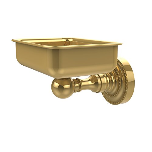 - Allied Brass DT-32-PB Dottingham Collection Wall Mounted Soap Dish, Polished Brass