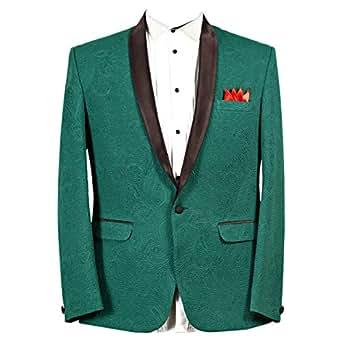 Libas Riyaz Gangji Green Cotton Blazer For Men