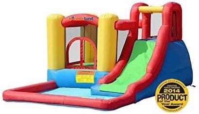 BeBop Wild Splash Bouncy Castle and Inflatable Water Slide Combo for Kids
