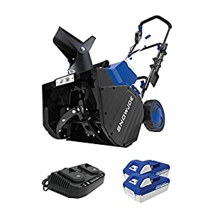 Snow Joe 24V-X2-SB18 18-Inch 48-Volt 4.0-Ah Cordless Snow Blower, Kit (w/2 x 24-Volt 4.0-Ah Batteries and Rapid Charger)