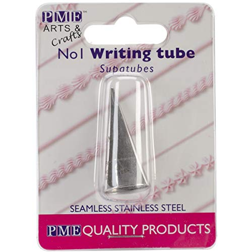 PME Seamless Stainless Steel SupaTube Writer #1 Decorating Tip, Standard, Silver ()