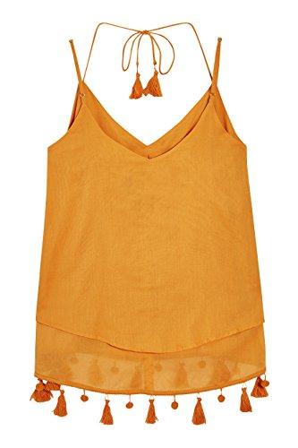 next Mujer Camisola Borlas Petite Camiseta Top Gold