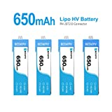 #2: BETAFPV 4pcs 650mAh 1S Battery 4.35V LiPo HV Battery JST 2.0 PowerWhoop Connector for Beta75s Inductrix FPV Plus Micro FPV Drone