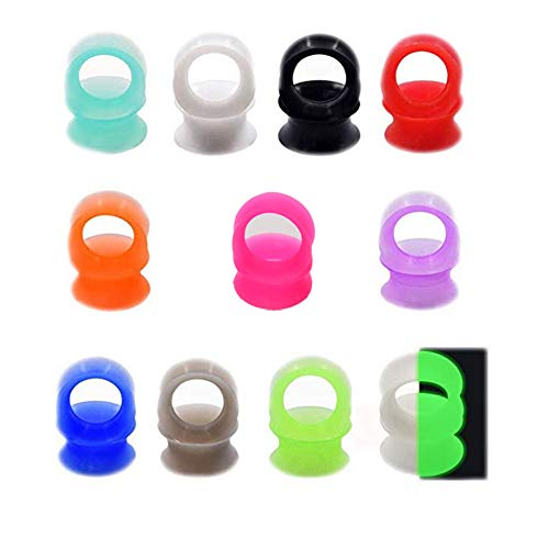 22pcs Silicone Ear Gauges Flesh Tunnels Plugs Stretchers Expander Ear Piercing Jewelry 1/2