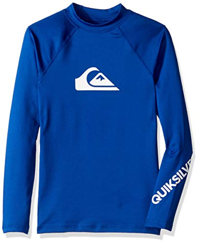 Quiksilver Big Boys' All TIME Long Sleeve Youth UPF 50 Sun Protection, Electric Royal, M/12 ()