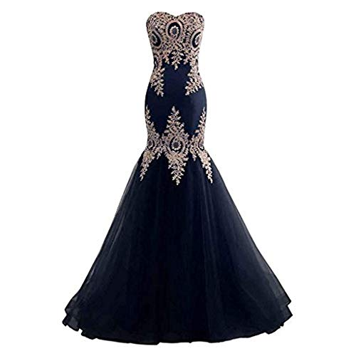 (Bishell-WD Women's Wedding Dress, Women Wedding Bridesmaid Dress Strapless Sweetheart Embroidery Floral Lace Bridal Gown Lace-up Mermaid Evening Party Dress Formal Long Prom Dresses)