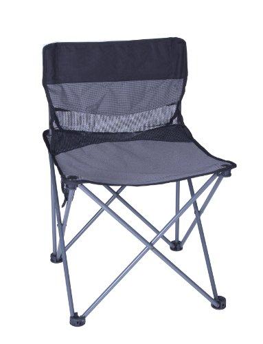 Stansport Apex Folding Sling Back Chair (Black/Silver) (Folding Back Sling)