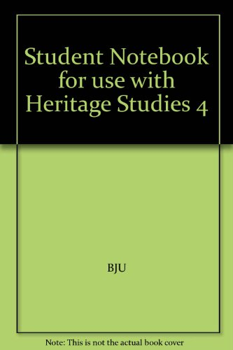 Student Notebook for use with Heritage Studies 4