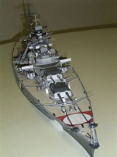 HMV 3964 Papermodel Battleship Bismarck with camouflage